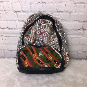 Ecoté Embroidered Mirror Zipper Backpack Geo Mini